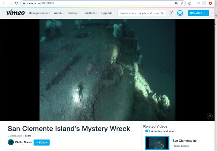 San Clemente Island MysteryWreck