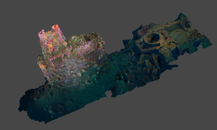UB88 Photogrammetry Project – Dive 3 (Conning Tower)
